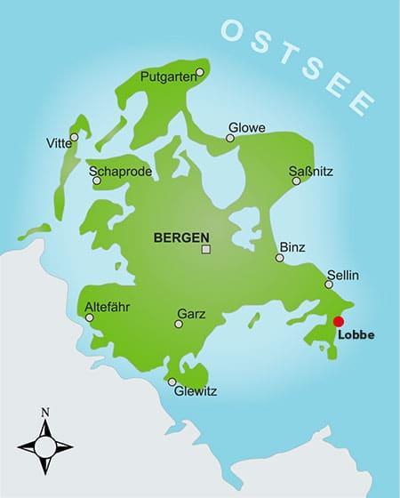 Karte Rügen klein